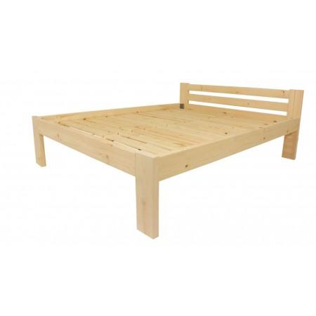 Masivní dřevěná postel s roštem, čirý lak, 200x180 cm