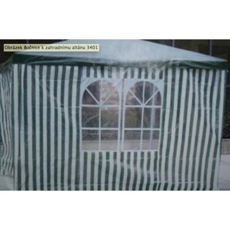 2x boční stěna k párty stanu s malým oknem, zelená / bílá