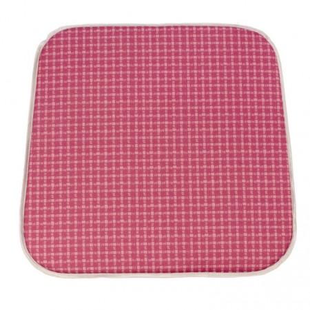Textilní podsedák na židle a křesla venkovní / vnitřní, růžový, 41x39 cm