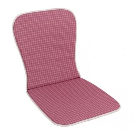 Měkké polstrování na židle a křesla s nízkým opěradlem, růžový, 74x39 cm