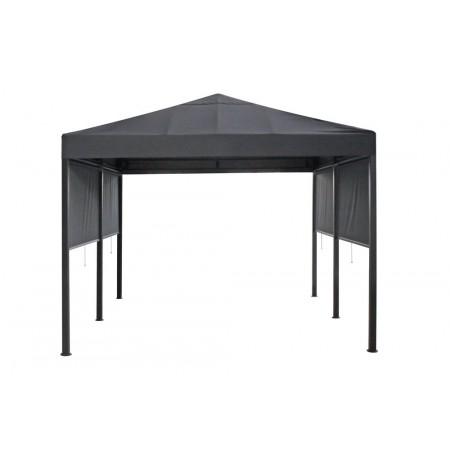 Venkovní stan / přístřešek 3x3 m, rolovací stěny, šedý