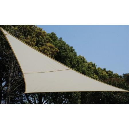 Stínící plachta na terasu / balkon, béžová, trojůhelník 3,6x3,6 m