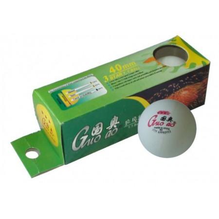 3x míček na stolní tenis, bílý, průměr 40 mm. špičková kvalita