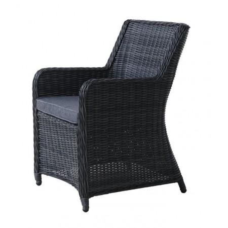 2x luxusní křeslo z umělého ratanu, zahrada / interiér, antracit