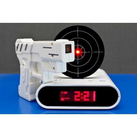Budík s LCD displejem a infračervenou pistolí