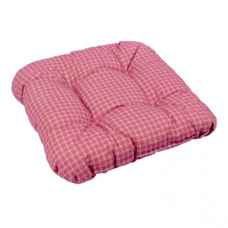 Vysoký podsedák / polstr pro židle a křesla, červený, 38x38 cm