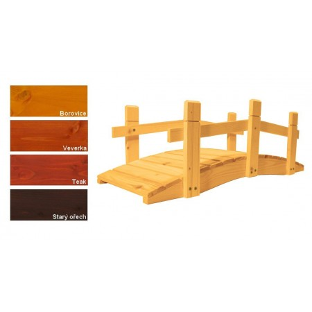 Zahradní dřevěný můstek - s povrchovou úpravou - 71 cm