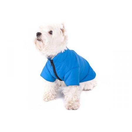 Obleček pro menší psy vel. M, na zip, modrý