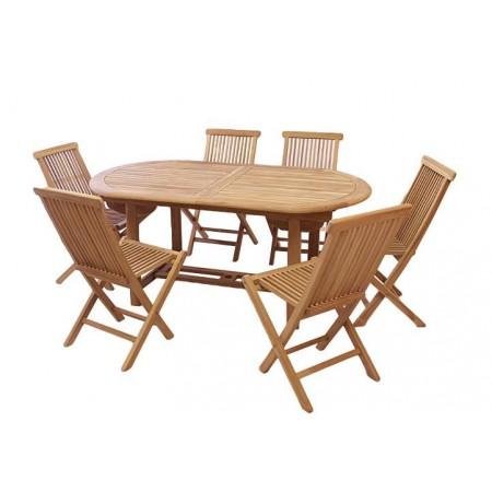 Teakový masvní nábytek na zahradu / terasu, rozkládací stůl