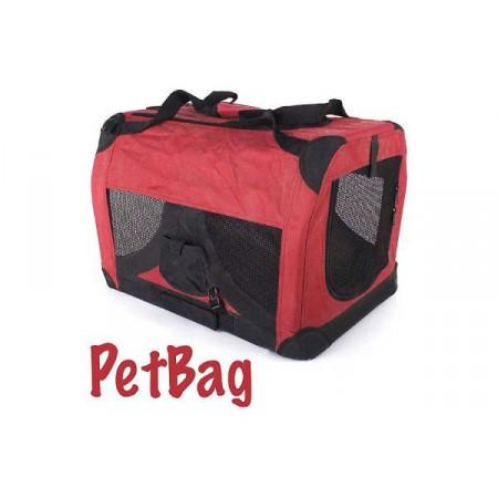 Velká přepravní taška pro psy a kočky, skládací, fialová, 122x84x80 cm
