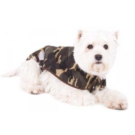 Obleček pro manší psy, vojenský motiv, XS (26 cm)