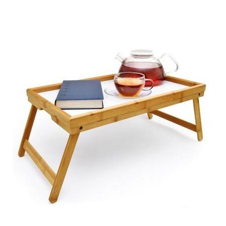 Bambusový skládací stolek pro snídani do postele, 50x30 cm