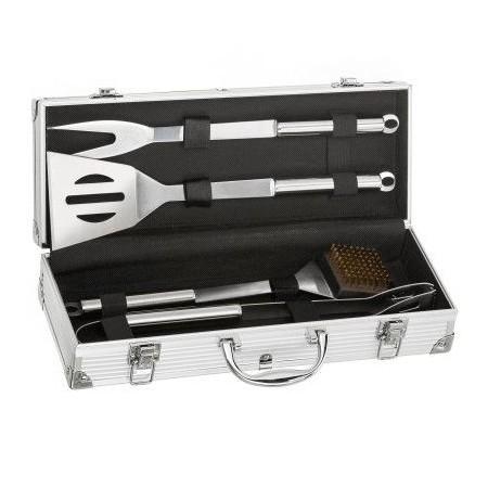 Dárková sada grilovacího nářadí v kufříku, profi nerezové provedení