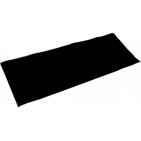 Měkká protiskluzová podložka na cvičení a fitness, černá, 176x61 cm