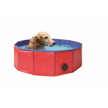 Skládací bazén pro psy kulatý, průměr 80 cm