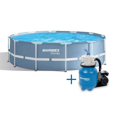 Velký nadzemní kruhový bazén Florida, 4,57x1,22 cm, vč. filtrace