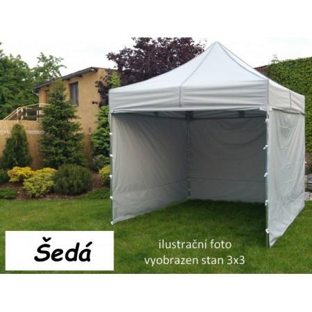 Pevný zahradní párty stan s ocelovou konstrukcí 3x4,5 m, šedý