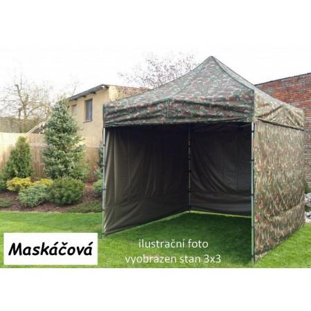 Pevný zahradní párty stan s ocelovou konstrukcí 3x4,5 m, maskáčový