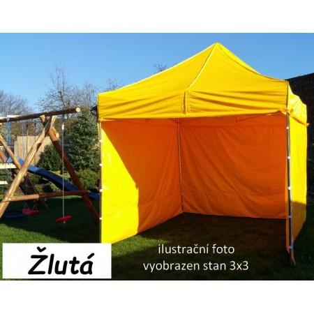 Pevný zahradní párty stan s ocelovou konstrukcí 3x4,5 m, žlutý