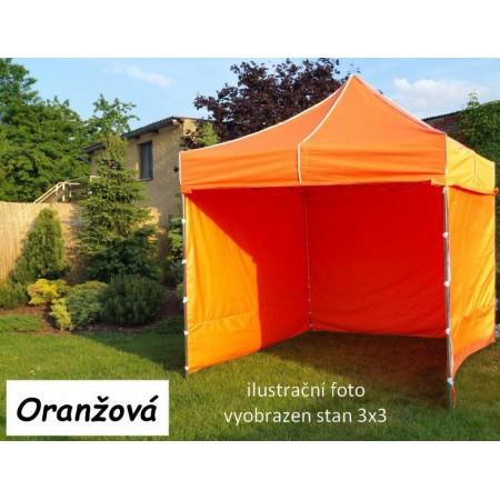 Pevný zahradní párty stan s ocelovou konstrukcí 3x4,5 m, oranžový