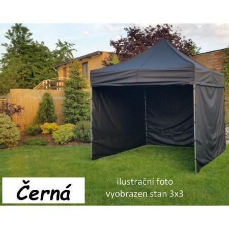 Pevný zahradní párty stan s ocelovou konstrukcí 3x4,5 m, černý