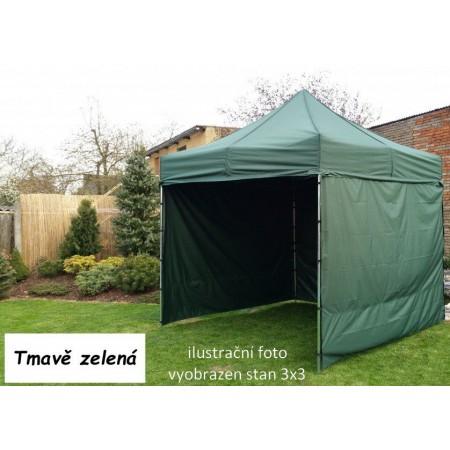 Pevný zahradní párty stan s ocelovou konstrukcí 3x4,5 m, tmavě zelený