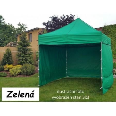 Pevný zahradní párty stan s ocelovou konstrukcí 3x4,5 m, zelený