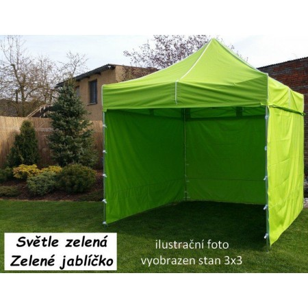 Pevný zahradní párty stan s ocelovou konstrukcí 3x4,5 m, světle zelený