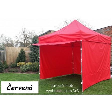Pevný zahradní párty stan s ocelovou konstrukcí 3x4,5 m, červený
