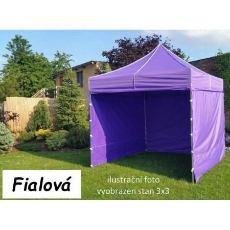 Pevný zahradní párty stan s ocelovou konstrukcí 3x4,5 m, fialový