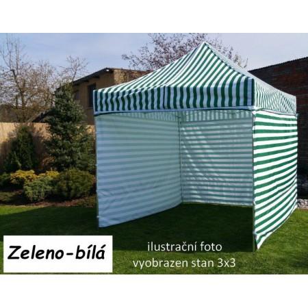 Pevný zahradní párty stan s ocelovou konstrukcí 3x4,5 m, zeleno - bílý