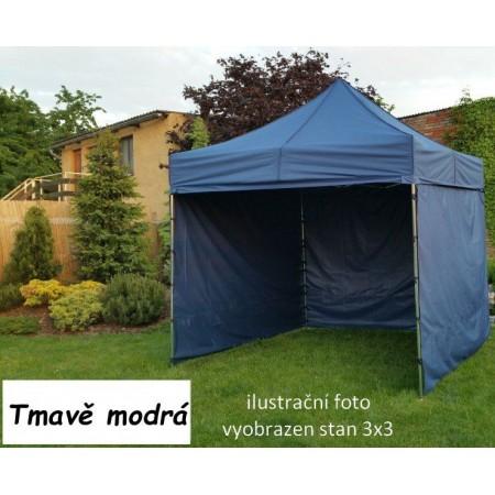 Pevný zahradní párty stan s ocelovou konstrukcí 3x4,5 m, tmavě modrý