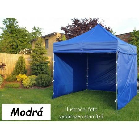Pevný zahradní párty stan s ocelovou konstrukcí 3x4,5 m, modrý