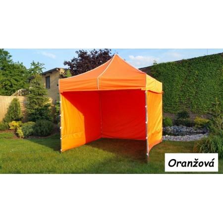 Zahradní párty stan 3x3 m profi, nůžkový, pozinkovaná ocel, oranžový