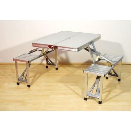 Skládací kempinkový set stolu a lavic, 136 x 85,5 x 67 cm