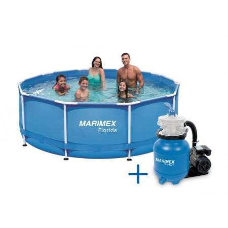 Nadzemní bazén skládací kulatý 3,05x0,91 m, písková filtrace