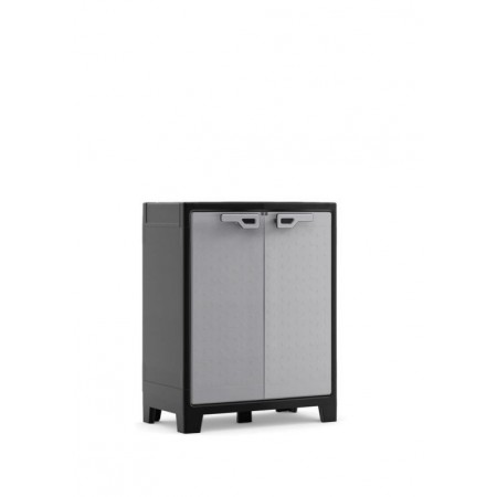 Plastová odkládací skříňka do interiéru / exteriéru, šedá, 80x44x100 cm