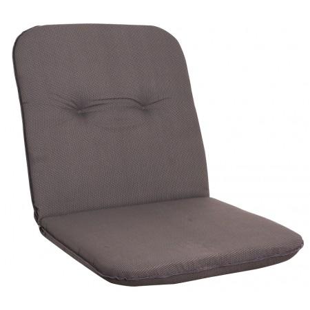 Měkké pohodlné polstrování na křeslo s nízkým opěradlem, šedá