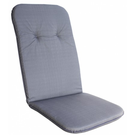 Měkké pohodlné polstrování na křeslo s vysokým opěradlem, šedá
