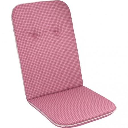 Měkké pohodlné polstrování na křeslo s vysokým opěradlem, růžová