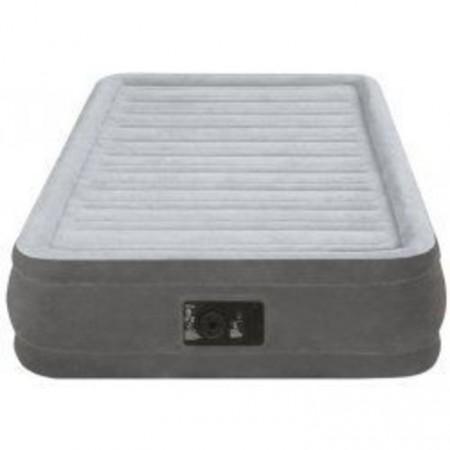 Měkká vysoká nafukovací postel pro hosty, integrovaná pumpa, 191x99x33 cm