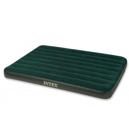 Nafukovací semišová postel pro hosty vč. přenosné pumpy, 191x137x22 cm