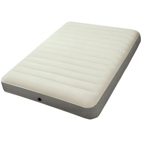 Nafukovací postel pro hosty, semišový povrch, 203x152x25 cm