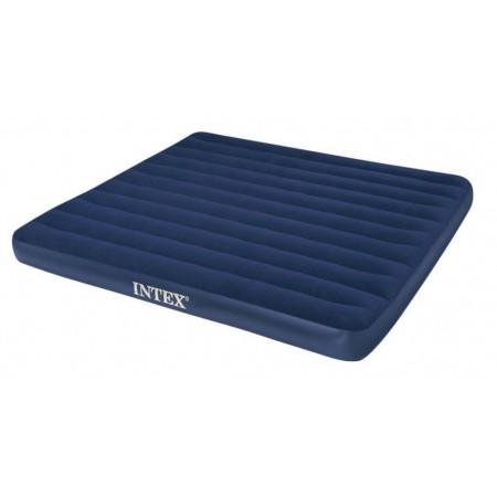 Velká nafukovací postel pro hosty, tmavě modrá, 203x183x22 cm