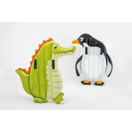 Nafukovací lehátko pro děti ve tvaru zvířátka, krokodýl / tučňák