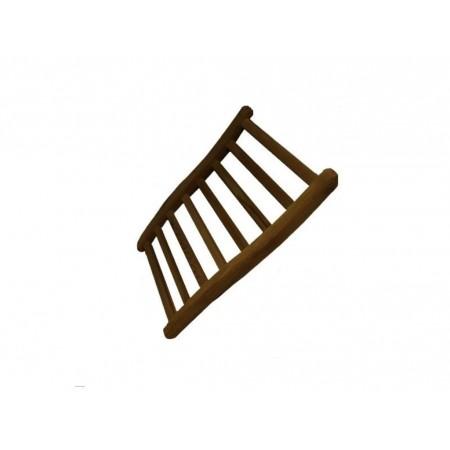 Dřevěná opěrka zad pro infrasauny, tmavě hnědá