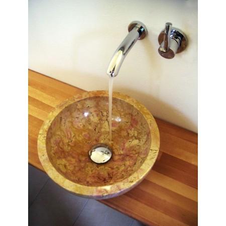 Luxusní umyvadlo- ručně leštěný kámen- mramor, kulaté, Ø45 cm
