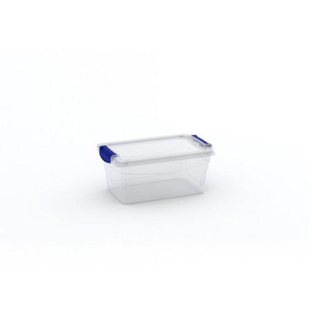 Úložný plastový průhledný box s víkem, 11 L