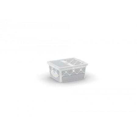 Malá úložná plastová bedna s dekorativním potiskem, 2 L