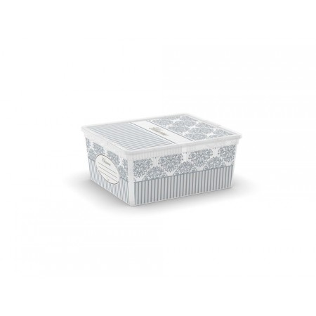 Úložný plastový box s dekorativním potiskem, 18 L